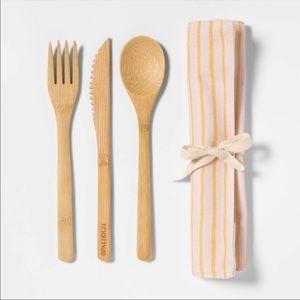 [opalhouse] reusable bamboo utensils set